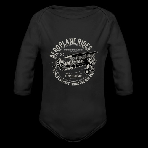 Aeroplane Ride - Baby Bio-Langarm-Body