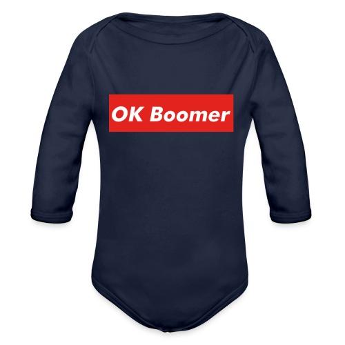 OK Boomer Meme - Organic Longsleeve Baby Bodysuit