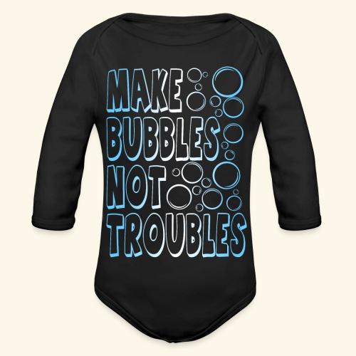 Bubbles001 - Baby bio-rompertje met lange mouwen