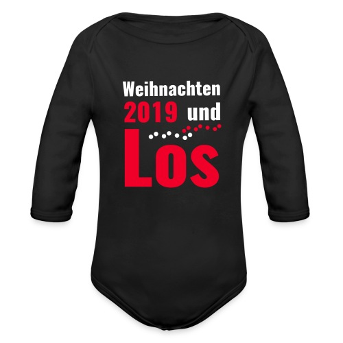 Weihnachten 2019 und Los - Baby Bio-Langarm-Body