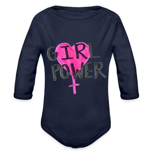 Girlpower - Baby Bio-Langarm-Body