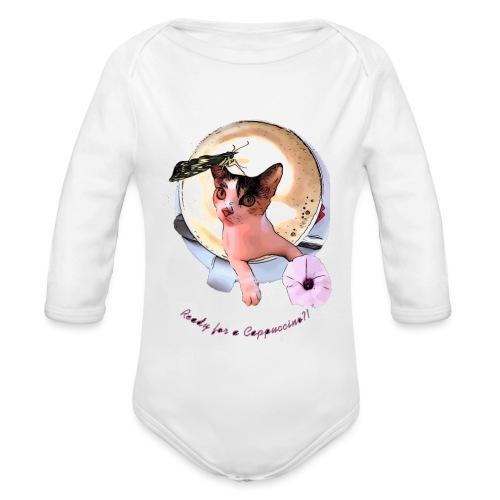 Ready for a cappuchino? - Organic Longsleeve Baby Bodysuit