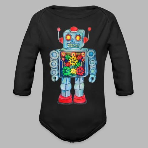 ROBOT - Organic Longsleeve Baby Bodysuit