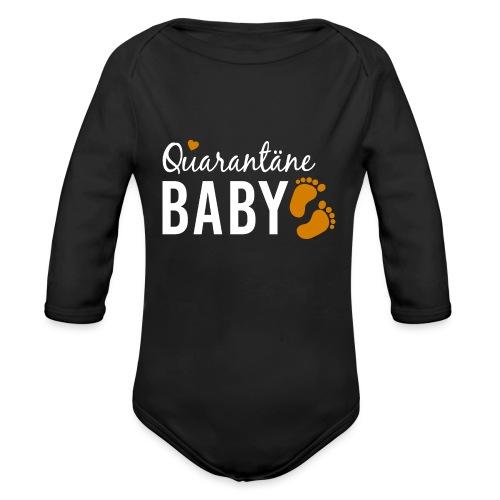 Quarantäne Baby Babybauch Schwangerschaft Corona - Baby Bio-Langarm-Body