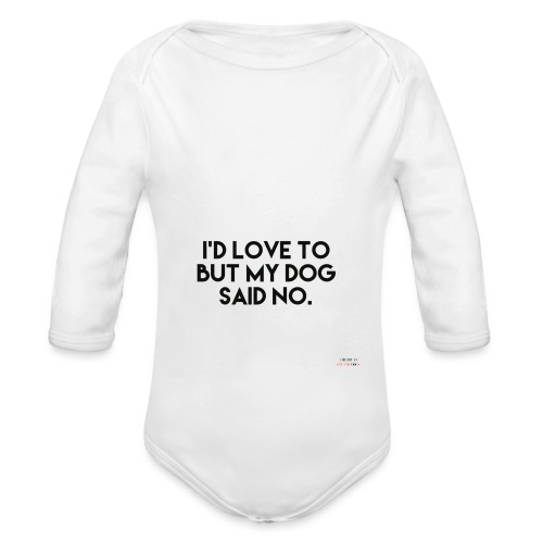 Big Boss said no - Organic Longsleeve Baby Bodysuit