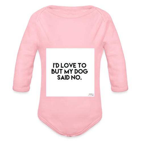 Big Boss said no - Organic Longsleeve Baby Bodysuit