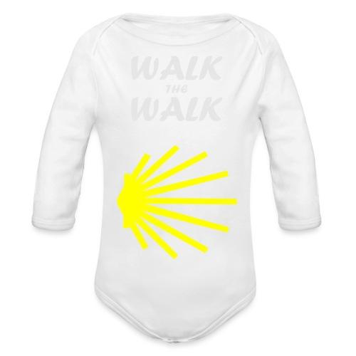 Walk the Walk - Camino de Santiago - Langærmet babybody, økologisk bomuld