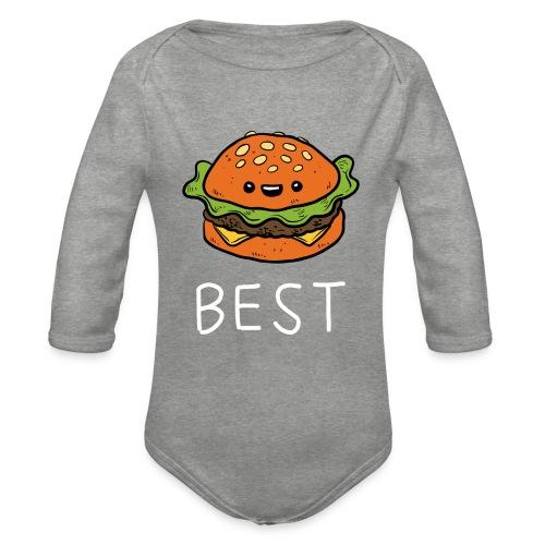 Beste Friends Burger und Pommes Partnerlook - Baby Bio-Langarm-Body