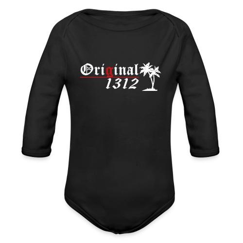 1312 logo white - Baby Bio-Langarm-Body