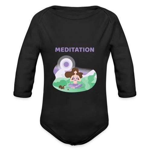 Yoga Meditation - Body ecologico per neonato a manica lunga