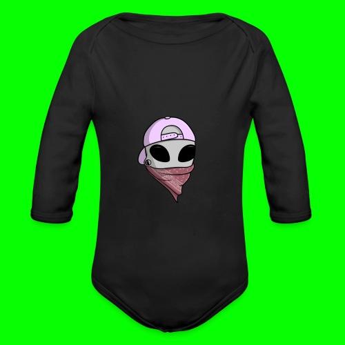 gangsta alien logo - Body ecologico per neonato a manica lunga