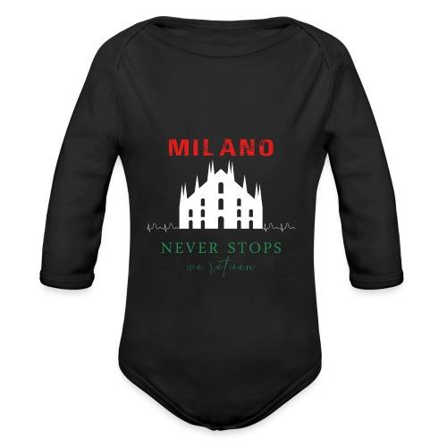 MILANO NEVER STOPS T-SHIRT - Organic Longsleeve Baby Bodysuit