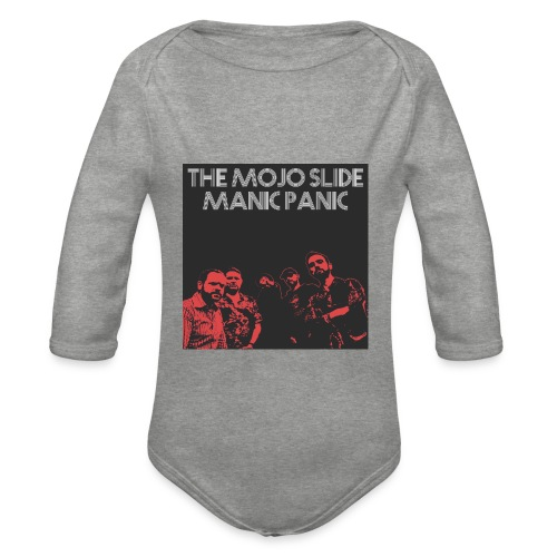 Manic Panic - Design 2 - Organic Longsleeve Baby Bodysuit