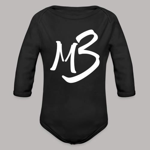 MB 13 white - Organic Longsleeve Baby Bodysuit