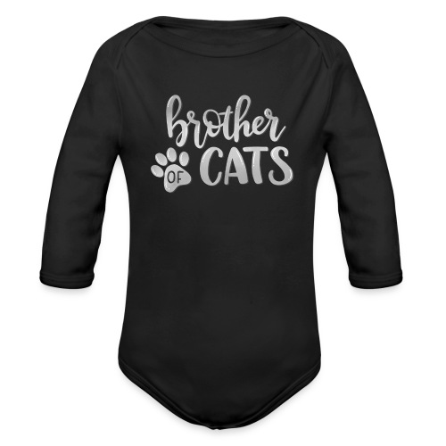 brother of cats grau - Baby Bio-Langarm-Body