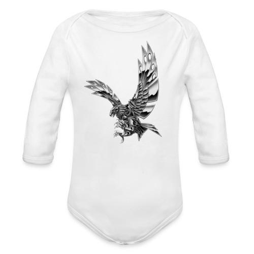 Metallic Eagle - Body ecologico per neonato a manica lunga