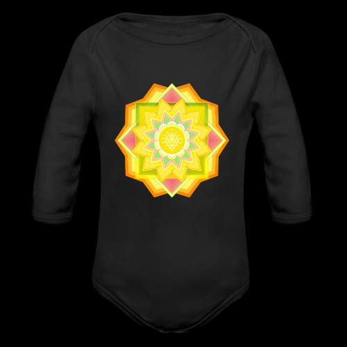 mandala 5 - Organic Longsleeve Baby Bodysuit