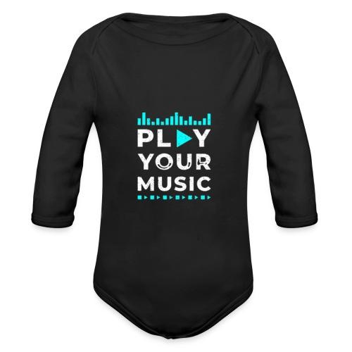 Play your music - Baby Bio-Langarm-Body