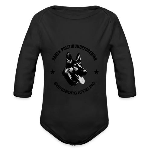 Svendborg ph sort - Langærmet babybody, økologisk bomuld