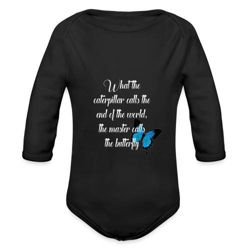 The butterfly - Organic Longsleeve Baby Bodysuit