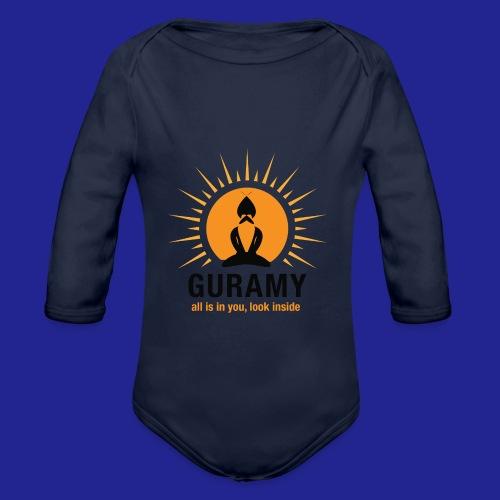 final nero con scritta - Organic Longsleeve Baby Bodysuit