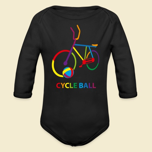 Radball | Cycle Ball Rainbow - Baby Bio-Langarm-Body