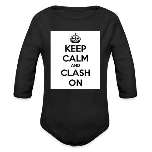 coque téléphone keep calm and clash on - Body Bébé bio manches longues
