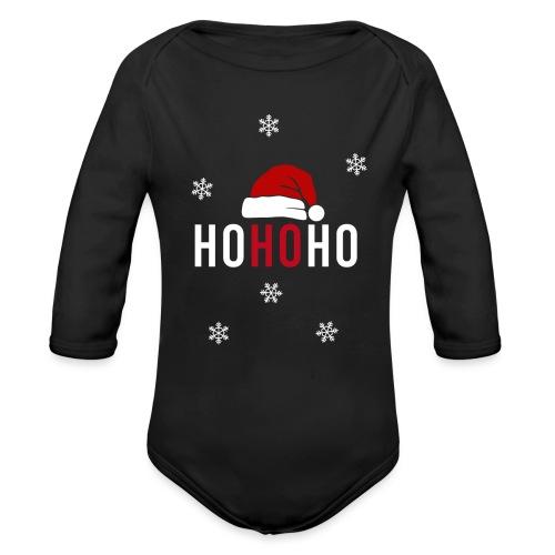 Weihnachtsmann Weihnachten schwanger Baby Geschenk - Baby Bio-Langarm-Body