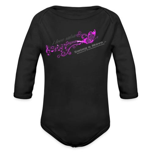 Butterfly 2 pink - Baby Bio-Langarm-Body