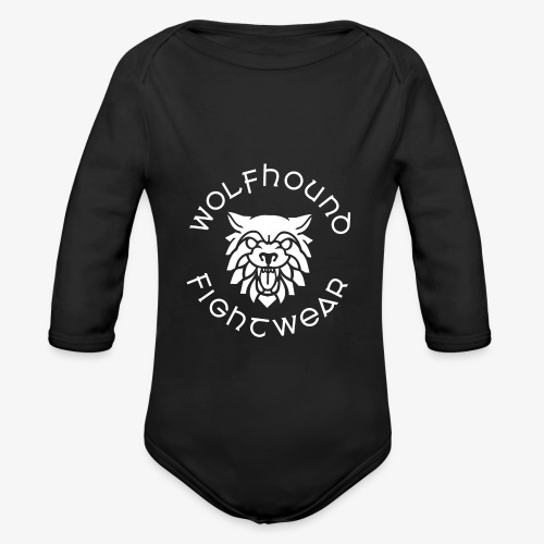 logo round w - Organic Longsleeve Baby Bodysuit