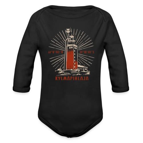 KYLMÄPIHJALAN MAJAKKA tekstiilit ja lahjatuotteet. - Vauvan pitkähihainen luomu-body