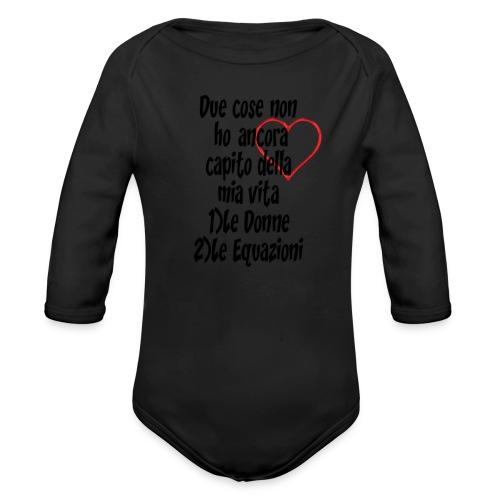Donne Equazioni - Body ecologico per neonato a manica lunga