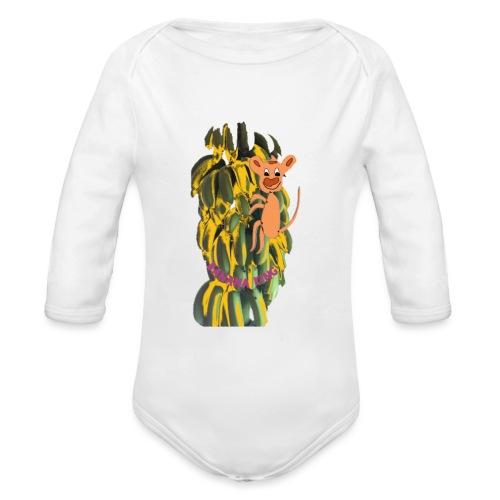 Bananas king - Organic Longsleeve Baby Bodysuit