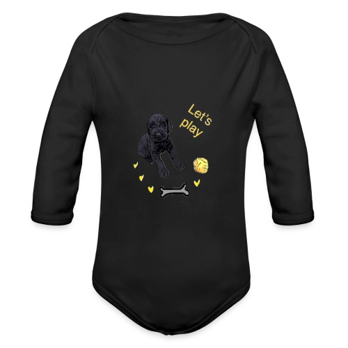 Giant Schnauzer puppy - Organic Longsleeve Baby Bodysuit