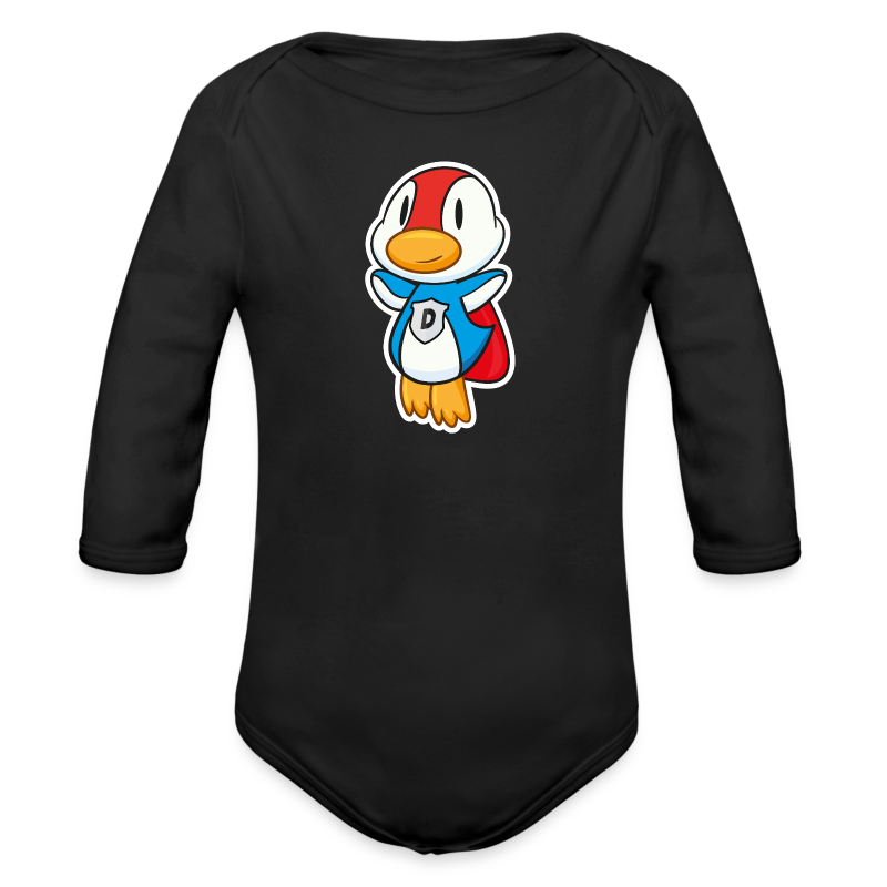 Fliegende Super-Ente hat Superkräfte - Baby Bio-Langarm-Body