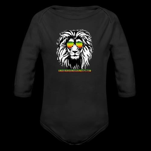 RASTA REGGAE LION - Baby Bio-Langarm-Body