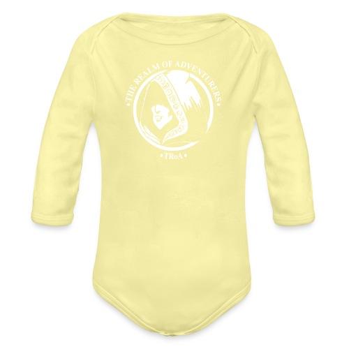 TRoA Logo hvid - Langærmet babybody, økologisk bomuld