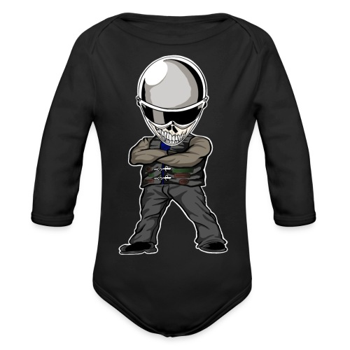 Böser Streetfighter - Baby Bio-Langarm-Body