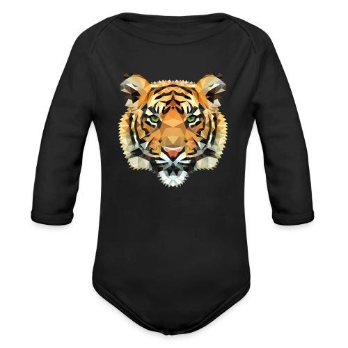 Tiger Polygon wild schwanger Geschenk Babybauch - Baby Bio-Langarm-Body