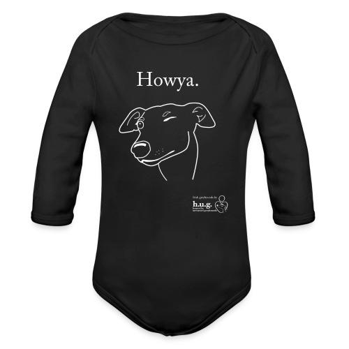 Howya Greyhound - Organic Longsleeve Baby Bodysuit