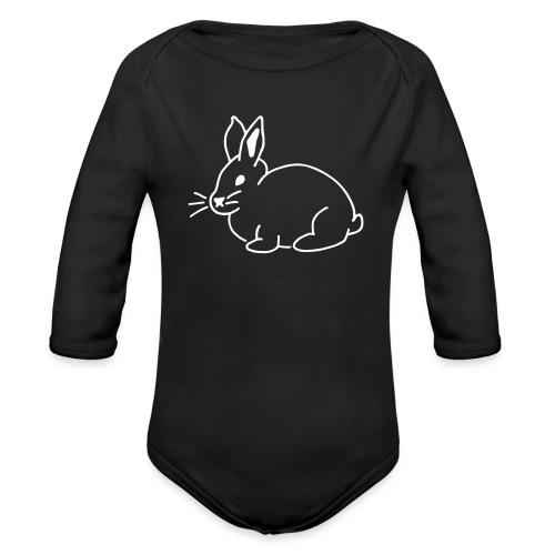 Hase, rabbit, Ostern, süß - Baby Bio-Langarm-Body