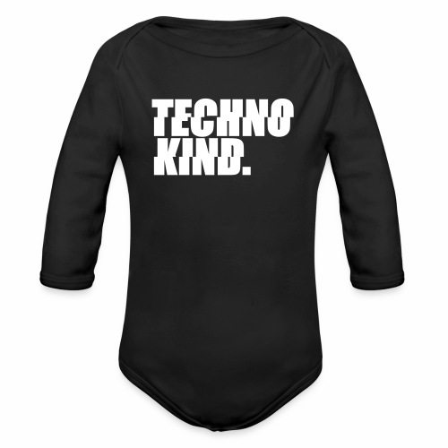 Techno Kind Rave Kultur Berlin Vinyl Progressive - Baby Bio-Langarm-Body