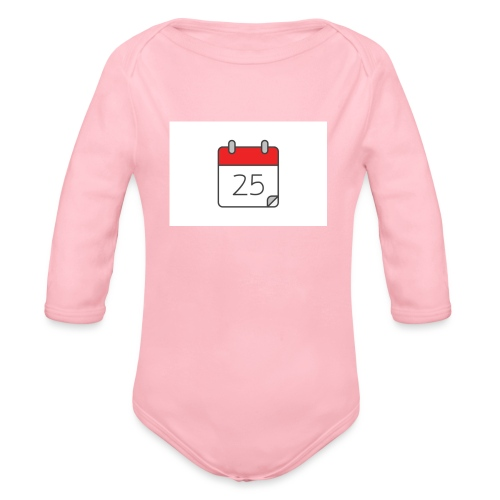 count down - Organic Longsleeve Baby Bodysuit