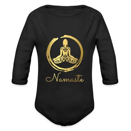 Namaste Meditation Yoga Sport Fashion - Baby Bio-Langarm-Body