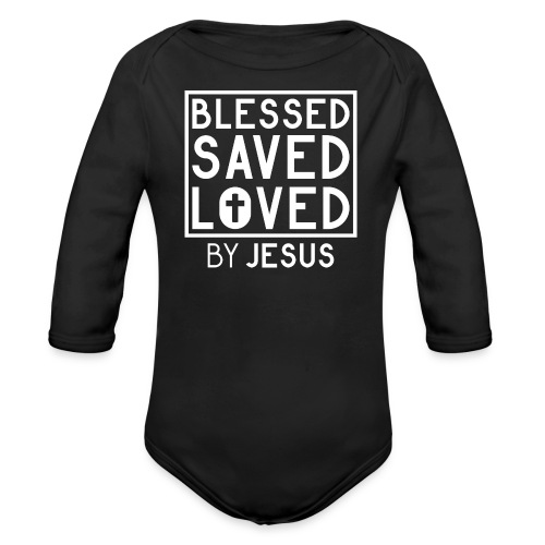 Blessed Saved Loved by Jesus - Christlich - Baby Bio-Langarm-Body