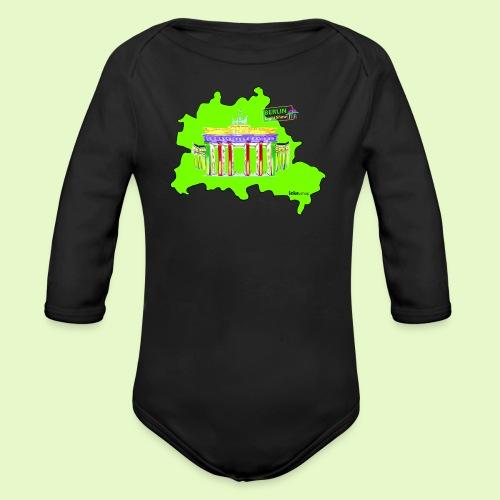 Berlin ist grün und bunt / BerlinLightShow - Baby Bio-Langarm-Body