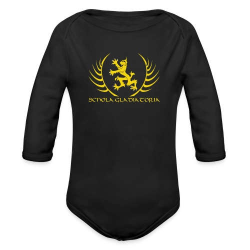 Schola logo with text - Organic Longsleeve Baby Bodysuit
