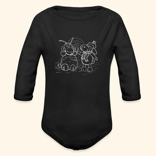 Schaf - Miss you weiß - Baby Bio-Langarm-Body