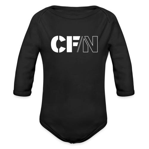 CFN White Grey - Ekologisk långärmad babybody