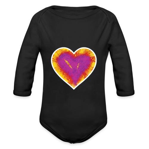Stitched Heart - Organic Longsleeve Baby Bodysuit